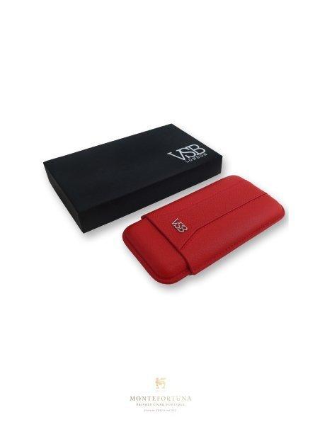 VSB Red Leather Cigar Case