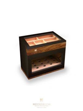 Montefortuna Graphite Humidor Glass